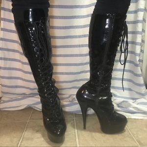 Shoes - Drag knee high boots